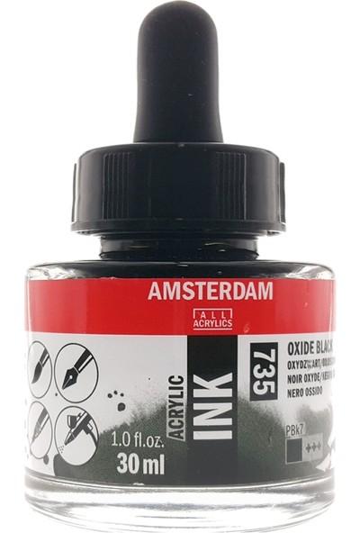 Talens Amsterdam Akrilik Mürekkebi 30Ml - N:735 Oxide Black