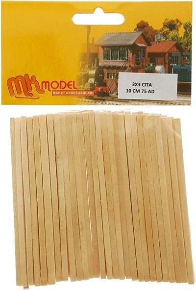 Mk Modele Ahşap Bambu Çıta 3X3Mm 10Cm 75'Li