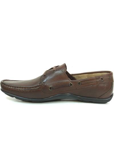 Berfo 4534 Kahverengi Bağcıklı Erkek Ayakkabı