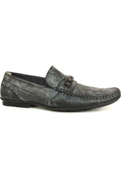 Berfo 4535 Füme Gri Bağcıksız Erkek Ayakkabı