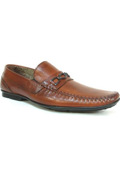 Berfo 4535 Kahverengi Bağcıksız Erkek Ayakkabı