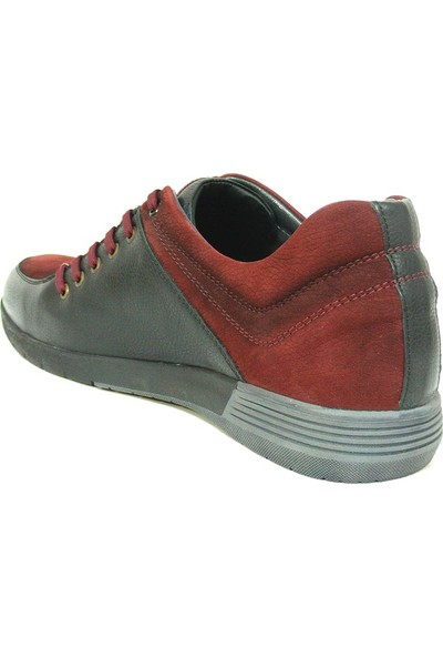 Dropland 3330 Siyah Bordo Bağcıklı Casual Erkek Ayakkabı