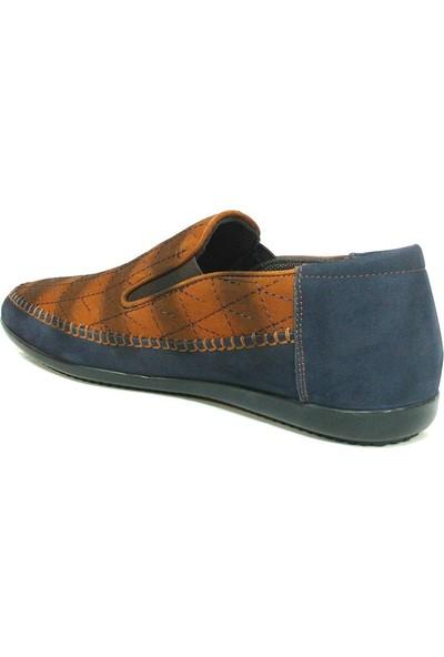 Dropland 3479 Lacivert Kahve Bağcıksız Casual Erkek Ayakkabı