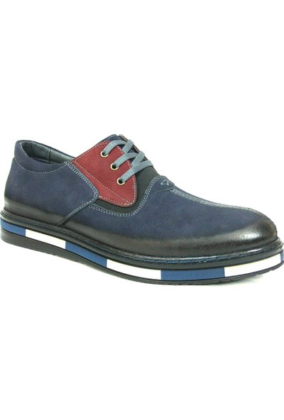 Dropland 3660 Lacivert Bordo Bağcıklı Casual Erkek Ayakkabı