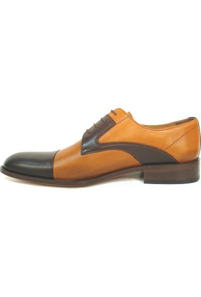 Ekici 3804 Taba Kahverengi Bağcıklı Kösele Erkek Ayakkabı