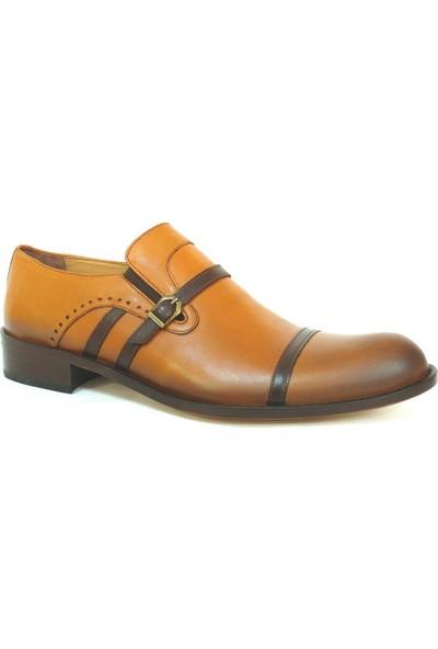 Ekici 3810 Taba Kahverengi Bağcıksız Kösele Erkek Ayakkabı