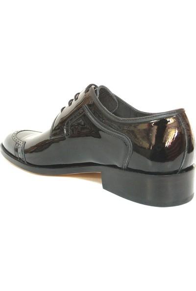 Ekici 3846 Siyah Rugan Deri Bağcıklı Kösele Erkek Ayakkabı