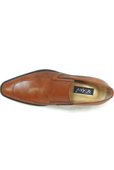Ekici 6580 Taba Kahve Bağcıksız Erkek Ayakkabı