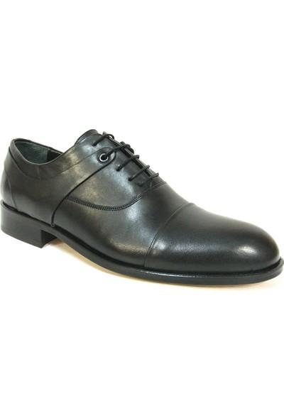 Ekici 7024 Siyah Bağcıklı Kösele Erkek Ayakkabı