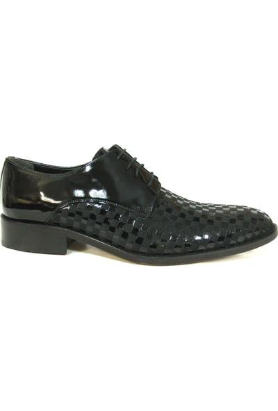 Ekici 7121 Siyah Rugan Bağcıklı Erkek Ayakkabı