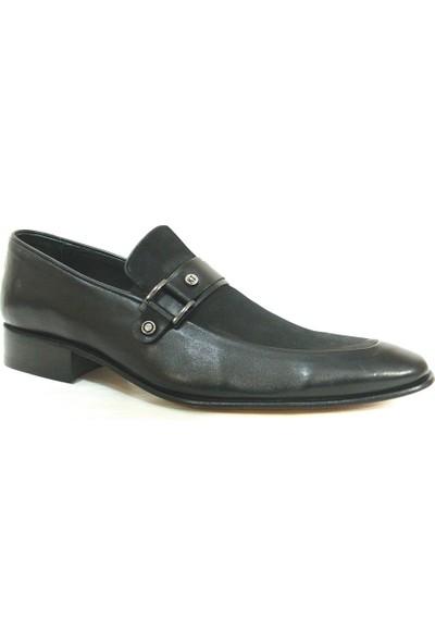 Ekici 7501 Siyah Bağcıksız Kösele Erkek Ayakkabı