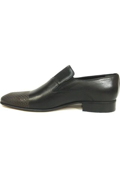 Ekici 7871 Siyah Bağcıksız Erkek Ayakkabı