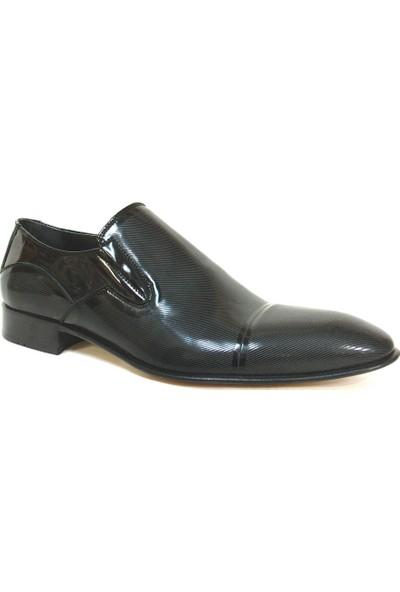Ekici Siyah Bağcıksız Kösele Erkek Ayakkabı