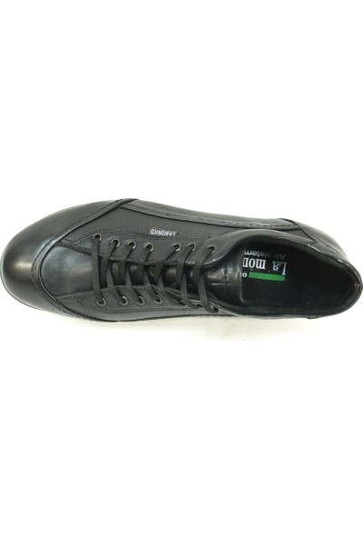 Le Mona'D Siyah Bağcıklı Casual Erkek Ayakkabı