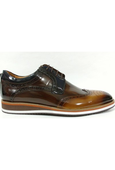 Marcomen 83537 Kahve Lacivert Bağcıklı Erkek Ayakkabı