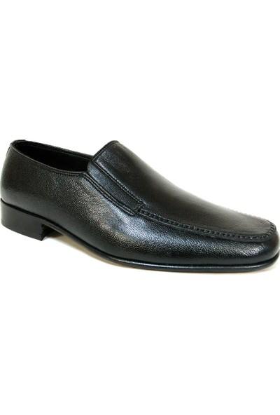 Selim Pirinçoğlu 4044 Siyah Bağcıksız Kösele Erkek Ayakkabı
