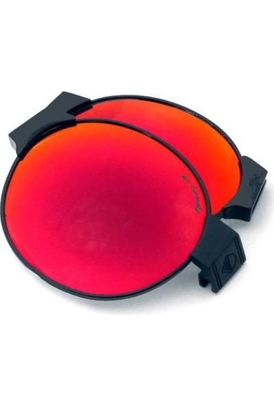 Sundance Kid Siyah Çerçeve Kırmızı Lens/ Mor Tamples Ve Burunluk (Beyaz Logo)