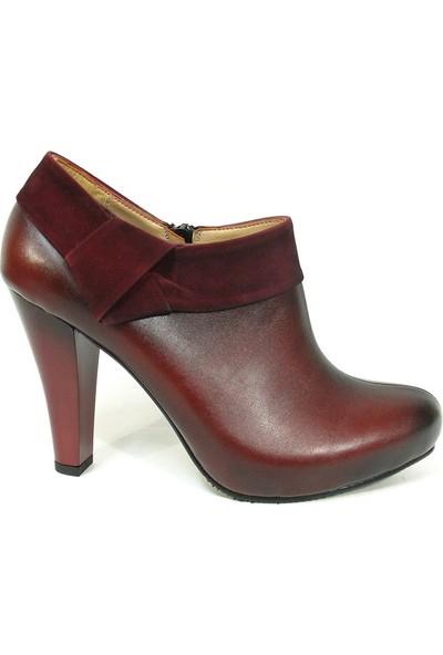 Zenay 1001 Bordo Bottie Platform Bayan Ayakkabı