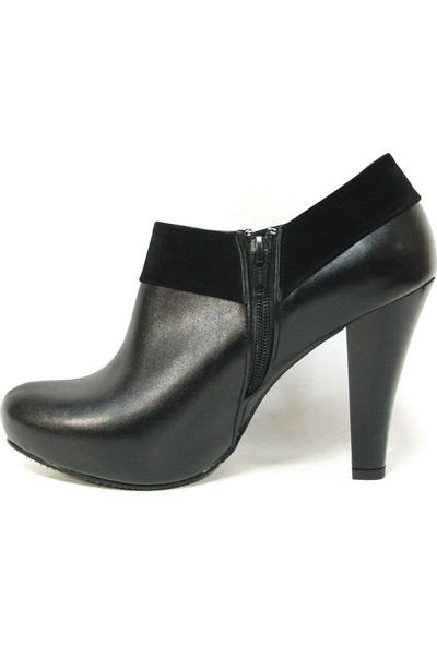 Zenay 1001 Siyah Bottie Platform Bayan Ayakkabı