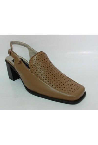 Demirci Camel Topuklu Bayan Ayakkabı