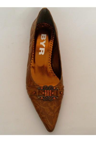 Byr 209 Taba Topuklu Bayan Ayakkabı