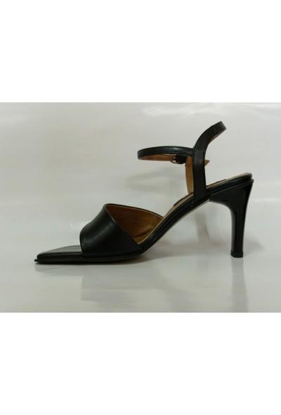 Byr Siyah Topuklu Bayan Ayakkabı