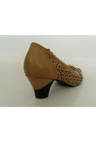 My Zenn 196 Camel Topuklu Bayan Ayakkabı
