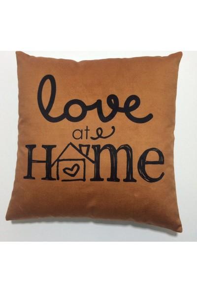 Nevresim Dünyası Dekoratif Kırlent Kılıfı Love At Home
