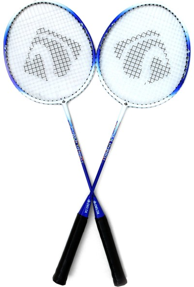 Delta Tek Parça 2 Adet Çiftli Badminton Raketi Çantalı Seti