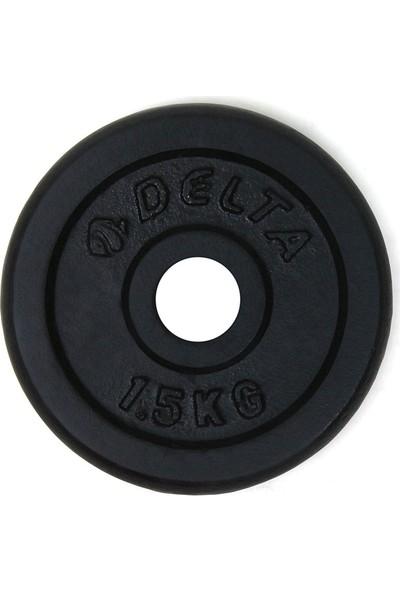 Delta 1,5 Kg x 2 Adet Dura-Strong Çiftli Siyah Döküm Plaka