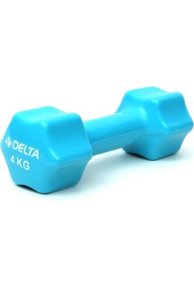 Delta 4 Kg x 1 Adet Deluxe Pvc Kaplama Turkuaz Demir Dambıl