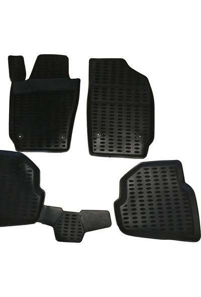 Fiat Doblo Araç İçi Paspas Takımı 2010-2017 Arası Kokusuz Kauçuk 3D Korumalı