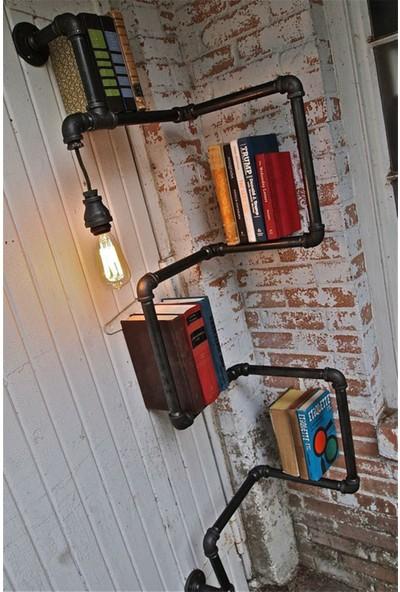 Erkon Metal Su Borusundan Retro Işıklı Kitaplık