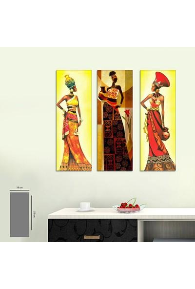 Evinemoda 3 Parça Mdf Tablo - Mısır Firavunları