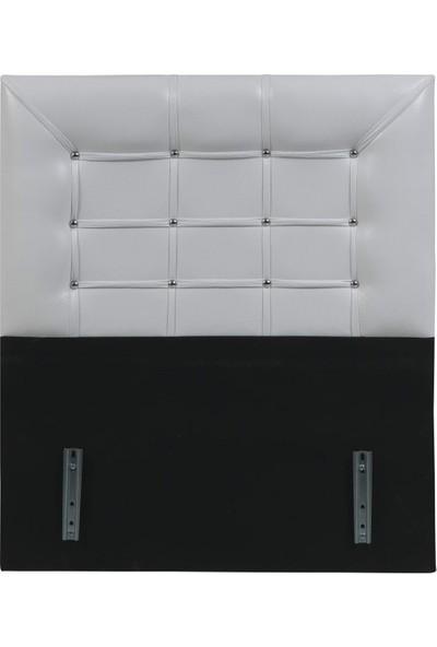Ae 5003 İnci Deri Tek Kişilik Baza Başlığı Beyaz