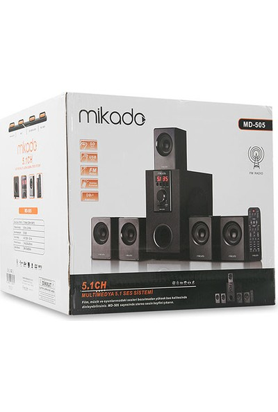 Mikado Md-505 5+1 Usb+Sd+Fm Destekli Bluetooth Speaker