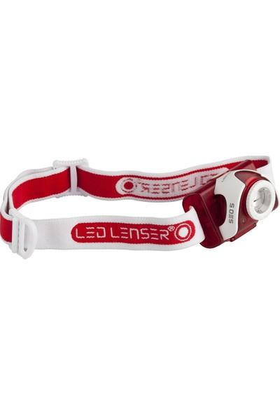 Led Lenser SEO5 Red 6106 Kafa Feneri
