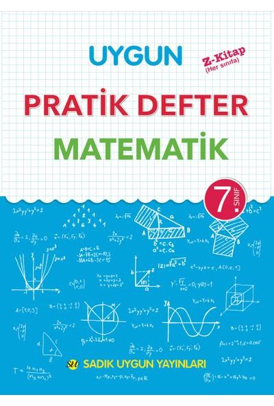 Uygun 7.Sınıf Matematik Pratik Defter Sadık Uygun Yayınları