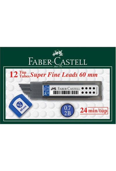Faber Castell Min Super Fıne 2B 0.7 12 Adet