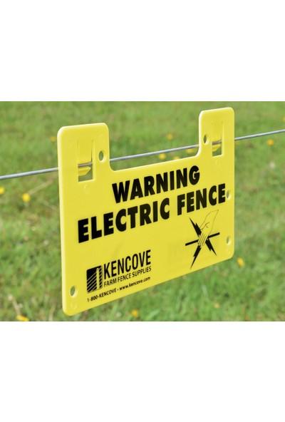 Argenç Elektrikli Çit Uyarı Levhası (Dikkat Tabelası)