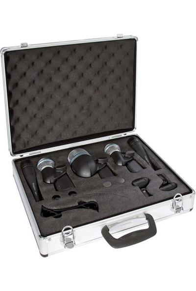 Doppler DRM 500 5-li Davul Mikrofon Seti + Case