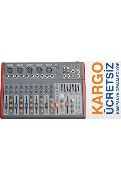 König K 802 FX 8 Kanal Efektli Deck Mikser
