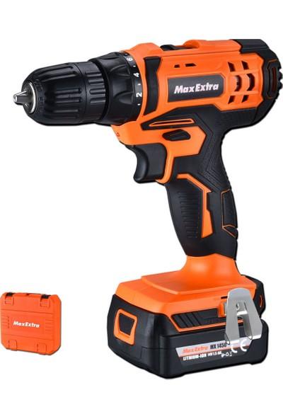 Max-Extra Mx1450 Akülü Matkap Vidalama 14V Li-İon