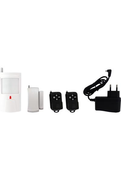 Opax Bgr-06 Siren Alarm Sistemi Siren+Pır+Manyetik Kontak+2 Kumanda+Adaptör