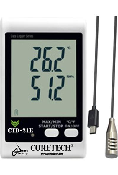 Curetech Köşe Teknoloji Curetech Ctd 21E Isı Ve Nem Ölçer Kayıt Cihazı Datalogger Problu DWL20 DWL21