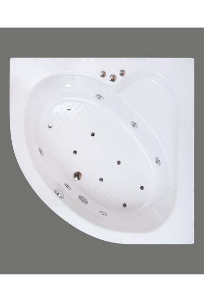 Shower Oval Mini Jakuzi & Hidromasaj 120*120 - Ekstra Sistem