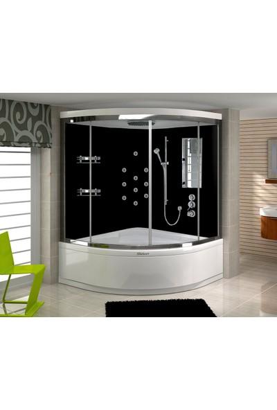 Shower Elegant Compact 110*110 - Sistem - I - - İç Duvar Siyah