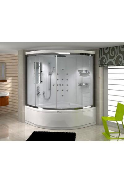Shower Elegant Compact 140*140 - Sistem - I - - İç Duvar Siyah