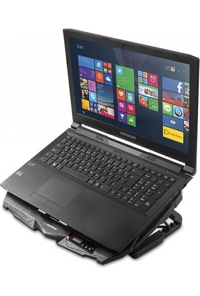 Rampage Ad-Rc4 Siyah 2*125Mm+2*70Mm Işıklı Fan 15-17 Notebook Soğutucu Stand