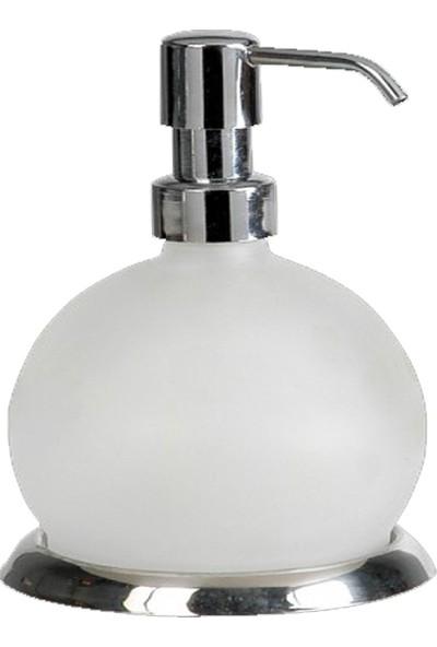Tombik Sıvı Sabunluk Cam / Krom